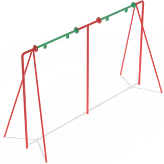 M2 swing without suspension + Swing seat with backrest (chain) or swing seat without backrest (chain) or rubber swing seat (chain)