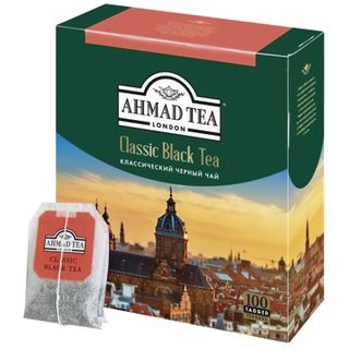 AHMAD / Classic Black Tea, 100 sachets with 2 g tags