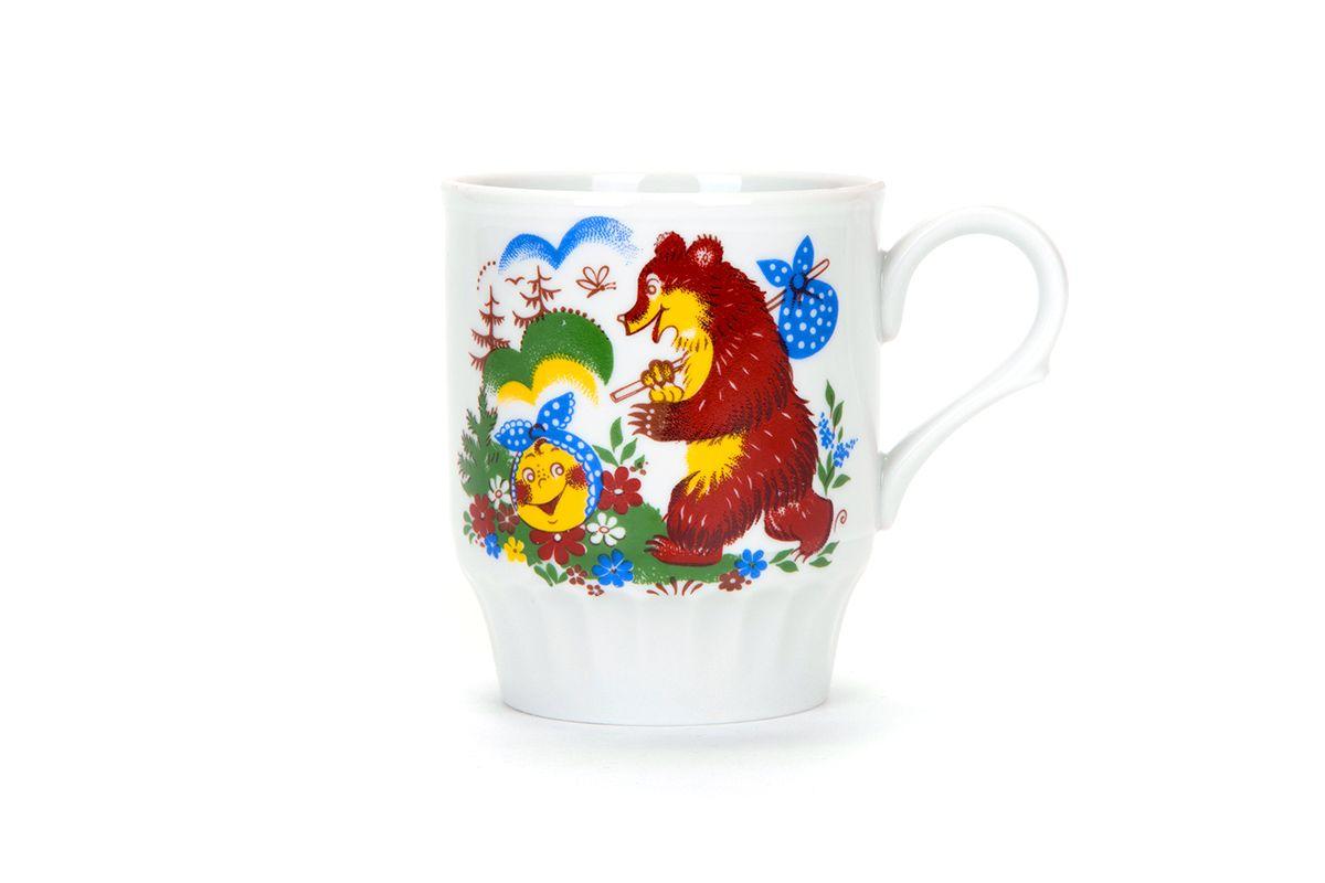 Dulevo porcelain / Mug 210 ml Russian field Vesely Kolobok