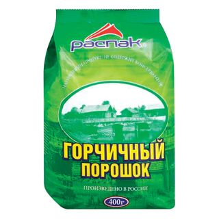 Mustard powder RASPAK, 400 g, soft bag