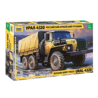 Model for bonding AUTO Car Army Russian Ural-4320, scale 1:35, STAR