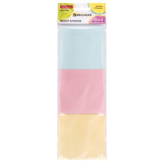 Unit self-adhesive (sticker) BRAUBERG, PASTEL, 76х76 mm, 3 colors x 50 sheets