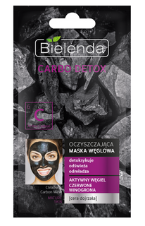 Purifying mask with activated carbon for Mature skin, BIELENDA CARBO DETOX, BIELENDA, 8G