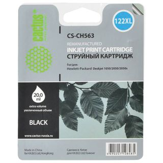 Inkjet cartridge CACTUS (CS-CH563) for HP Deskjet 1050/2050 / 2050S, black, 20 ml