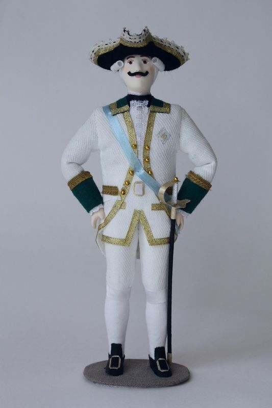 Doll gift. Admiral. The military uniform. The 2nd half of the 18th century. Russia.
