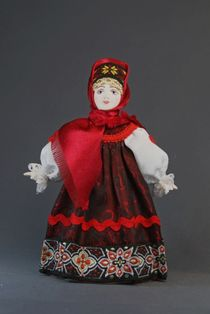 Doll gift porcelain. Peasant costume (styling). Center. Russia.