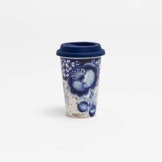 Author's coffee Cup with silicone lid No. 31, Gzhel Porcelain factory