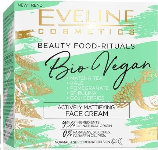 Active mattifying day cream/night series bio vegan, Eveline, 50 ml