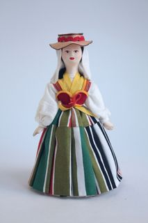 Doll gift. Women's costume of the 20th century. Canary Islands: Tenerife.
