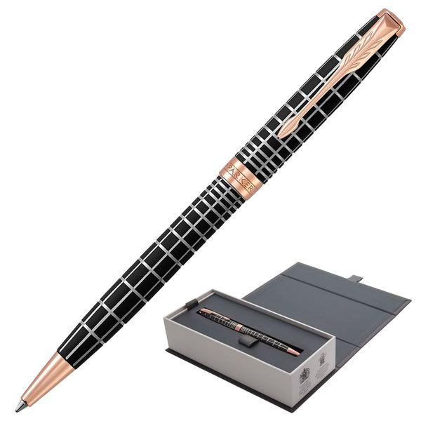 Ballpoint pen PARKER 'Sonnet Premium Brown Rubber PGT', body brown resin, gold plated parts, black