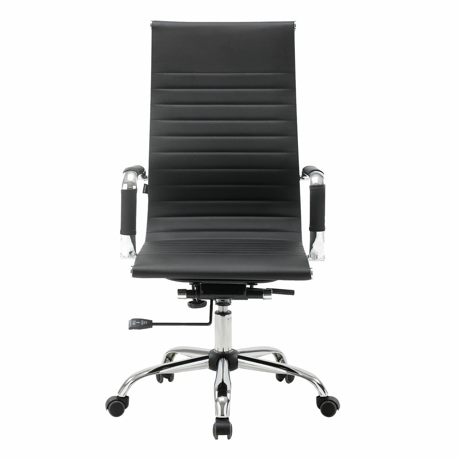 """Office chair BRABIX """"Energy EX-509"""", recycled leather, chrome, black"""