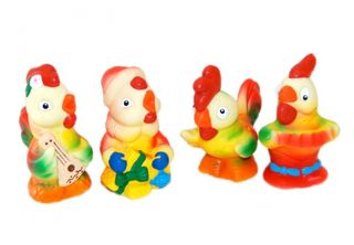 A set of New Year cockerels - Baby, bright, colorful toys