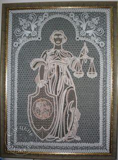 """Panels decorative lace """"Justice"""""""