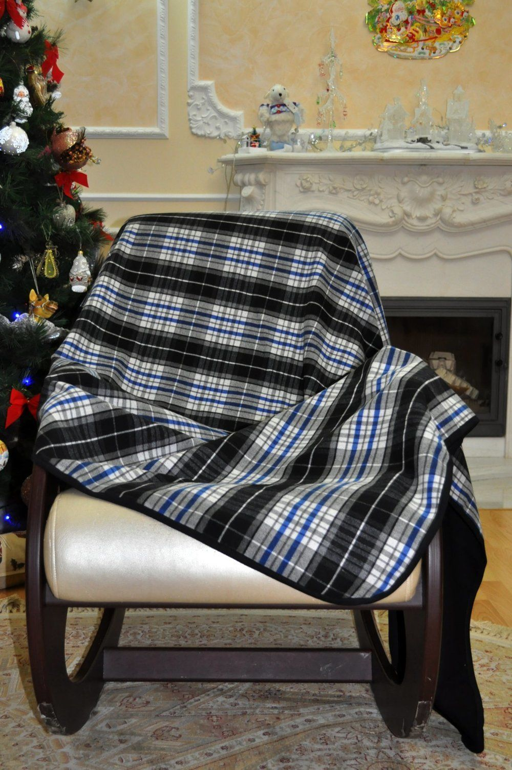 Lika Dress / Plaid check with blue Lika Dress / Stripe Ref. 984
