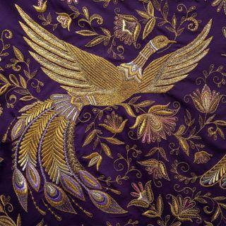 "Handkerchief ""the Firebird"" purple, pre-order"