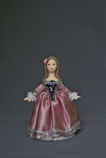 Doll gift porcelain. Lady in ball dress (styling). 1840 G.