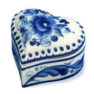 Box Heart 1st grade, Gzhel Porcelain factory