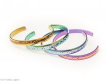 Zirconium dimensionless bracelet 'CRYSTAL'