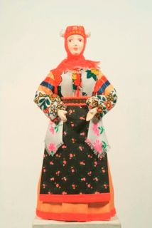 Doll gift. Nekrasov Cossack in formal attire. The end of the 19th century. Russia