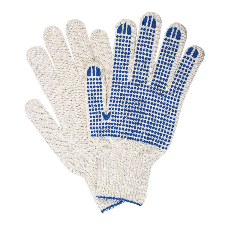 LIMA / Cotton gloves PROFI, SET 5 PAIRS, grade 7, 65-67 g, 216 tex, PVC dot, XL, WHITE
