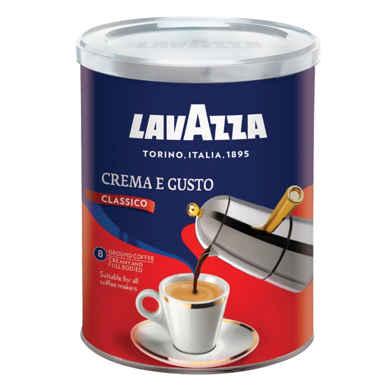 """LAVAZZA / Ground coffee """"Crema E Gusto"""", tin can 250 g"""