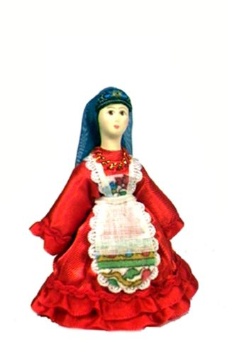 Doll gift. The rural Tatar costume of the mid-19th century.