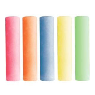 Chalk, colored BRAUBERG, set of 20 PCs., for drawing on the pavement, round, plastic bucket