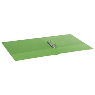 Folder on the 2 rings BRAUBERG, cardboard/PVC, 35 mm, lime, up to 180 sheets (double life)