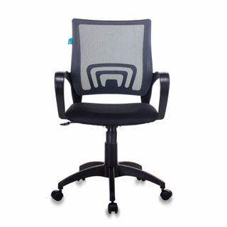 Chair CH-695N / DG / TW-11, with armrests, mesh, black / gray