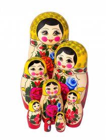 Traditional 8-doll matryoshka