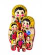 Traditional 8-doll matryoshka - view 1