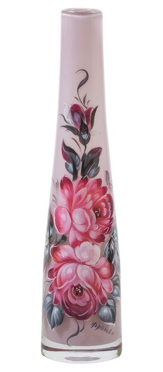 Zhostovo / Small glass vase, author N. Frolova