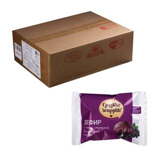 Marshmallow SWEET STORIES, with black currants in chocolate glaze, by weight, 2 kg, corrugated box