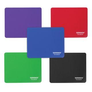 SONNEN / Mouse pad ASSORTED, rubber + fabric, 220х180х3 mm, 5 types