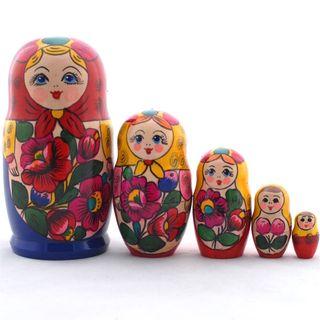 The doll in blue dress 5 dolls Polkhovsky Maidan