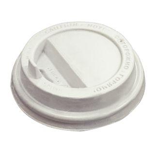 PROTEK / Disposable cup lid (d-90), SET 100 pcs., Flap spout valve, PS