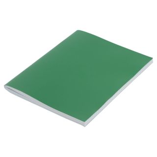 The notebook is bumvinil, A4, 96 sheets, staple, offset No.1, cage, STAFF, GREEN