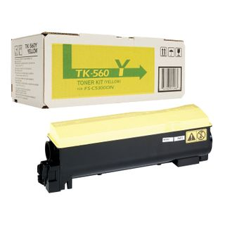 Kyocera Toner Cartridge (TK-560Y) FS-C5300DN / 5350DN, Yellow, Original, Yield 10,000 pages