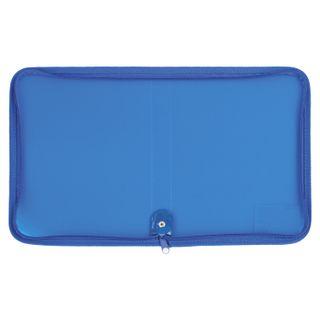 Folder for notebooks A5 PYTHAGORAS, plastic, zipper around, one tone, blue