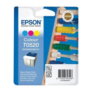 Inkjet cartridge EPSON (C13T05204010) Stylus Color 400/600/740/1520 / Scan2000 / 2500 and others, color, original