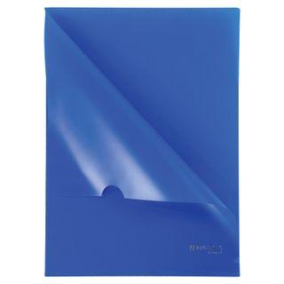 Folder corner hard, opaque BRAUBERG, blue, 0.15 mm