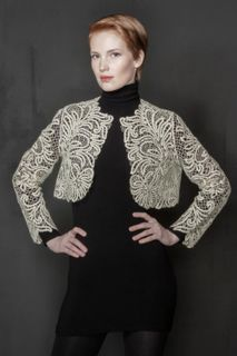 "Womens lace jacket ""the Scent of peony"""
