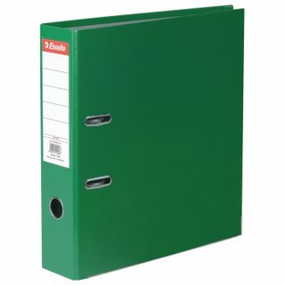 A file folder ESSELTE Economy, plastic-coating, 75 mm, green