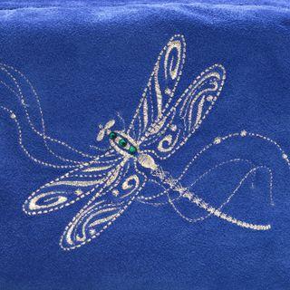 Dragonfly Suede Makeup Bag