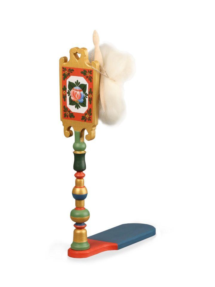 "Volkhov painting / Miniature spinning wheel ""Volkhov rose tree No. 4"""