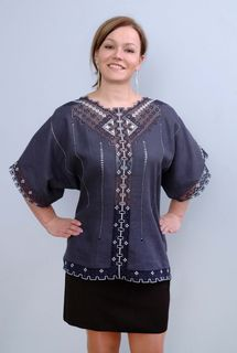 Blouse womens linen 9-514a