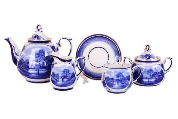 Dulevo porcelain / Tea set 15 pcs. Blooming garden RT Gold