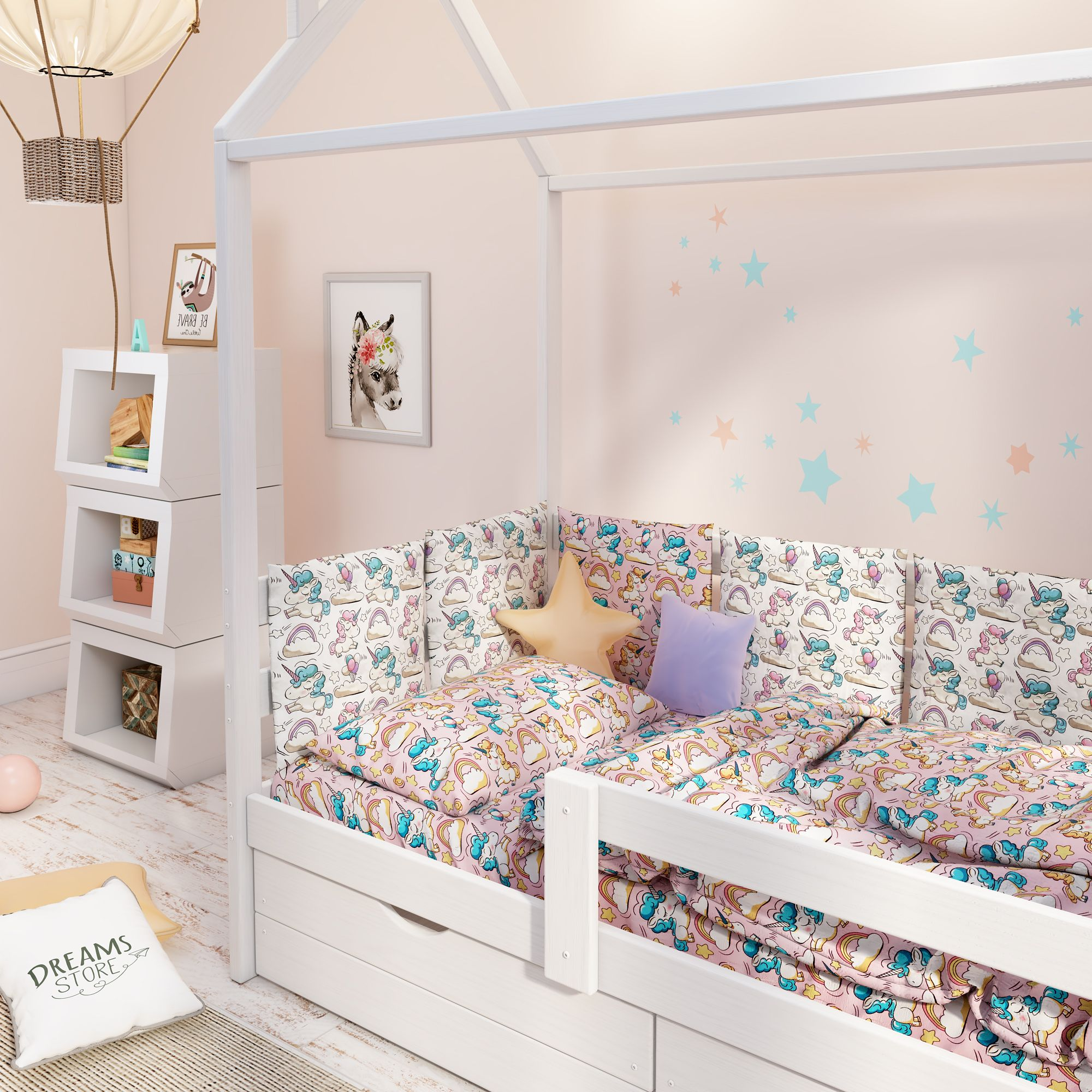 """Dreams Store / Bed set for children from 2 years old """"Unicorns"""""""