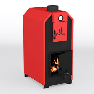 Copper heating wood Flames Green KOD-15