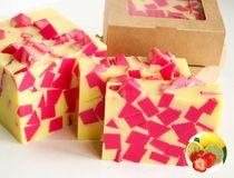 Strawberry-Lemon whetstone 1kg - handmade fragrant soap